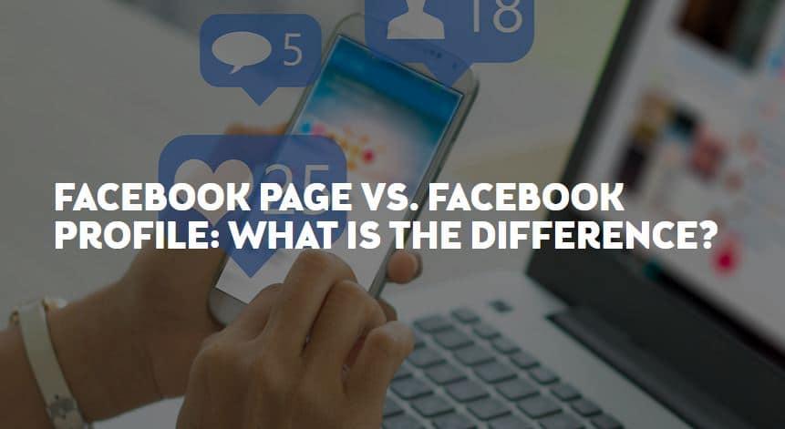 Facebook page vs facebook profile blog post